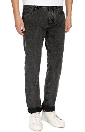 Зауженные джинсы с нашивкой Dolce & Gabbana темно-серые | Фото №3