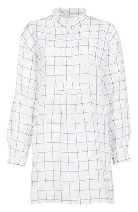 Хлопковая домашняя блуза в клетку | Фото №1