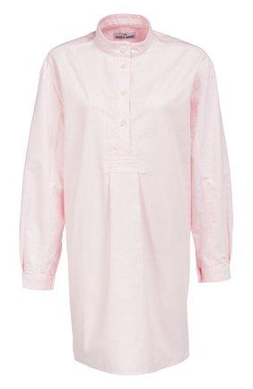 Хлопковая домашняя блуза в полоску | Фото №1