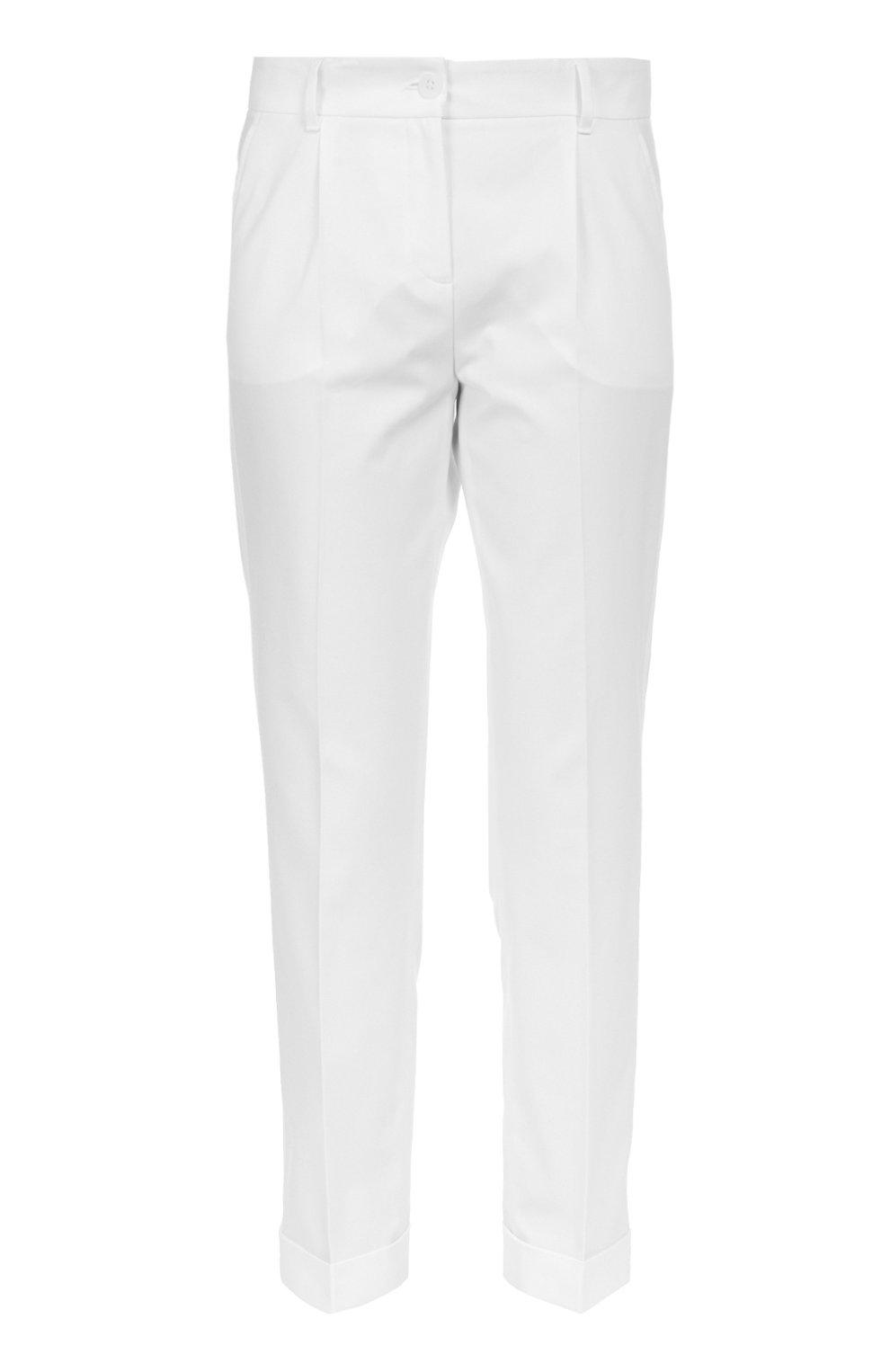 Хлопковые брюки прямого кроя со стрелками | Фото №1
