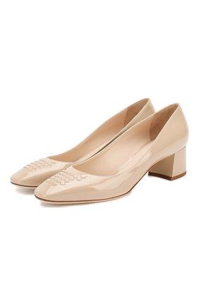 Лаковые туфли на низком каблуке | Фото №1