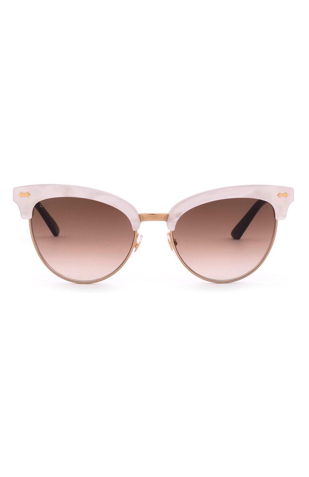 Женские солнцезащитные очки GUCCI розового цвета, арт. 4283 U29   Фото 1