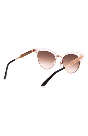 Женские солнцезащитные очки GUCCI розового цвета, арт. 4283 U29   Фото 3