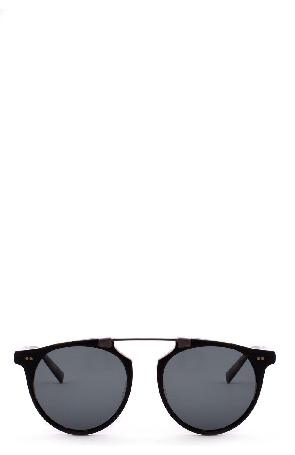 Женские солнцезащитные очки JOHN VARVATOS черного цвета, арт. V602 UF BLK/T0RT   Фото 1