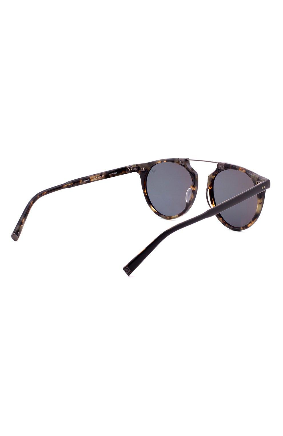 Женские солнцезащитные очки JOHN VARVATOS черного цвета, арт. V602 UF BLK/T0RT   Фото 3