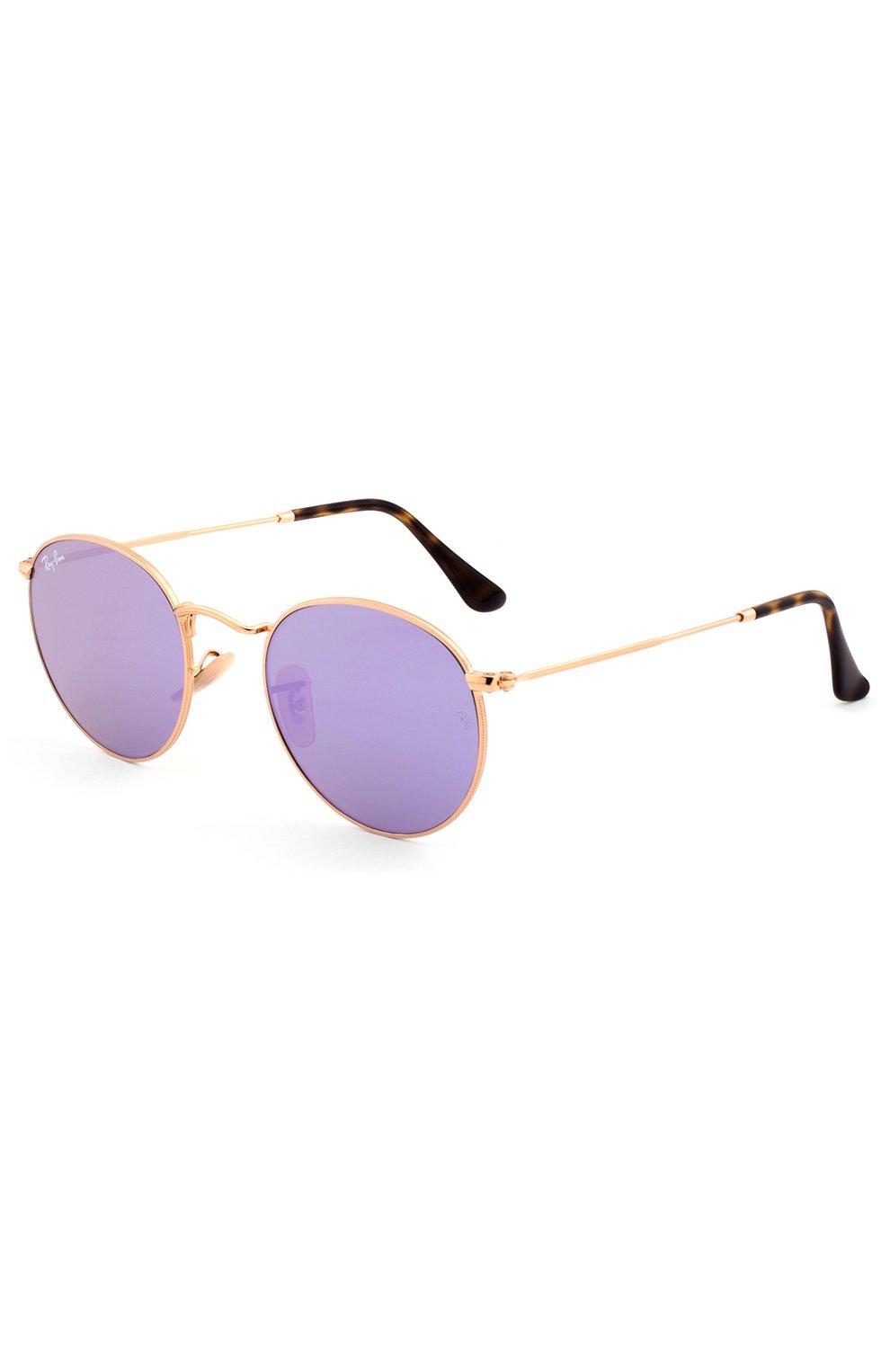 Солнцезащитные очки Ray-Ban золотые | Фото №2