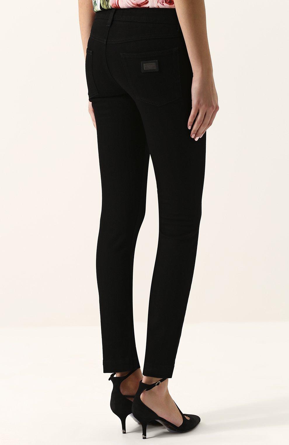 Укороченные джинсы-скинни | Фото №4