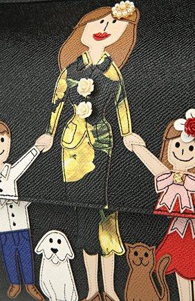 Сумка Sicily medium new с аппликацией DG FAMILY Dolce & Gabbana черная цвета | Фото №7
