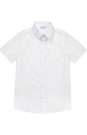 Хлопковая рубашка с коротким рукавом   Фото №1