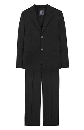 Шерстяной костюм с пиджаком на двух пуговицах | Фото №1