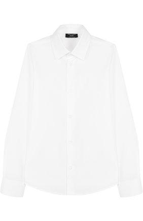 Детская хлопковая рубашка DAL LAGO белого цвета, арт. N402/1165/7-12 | Фото 1