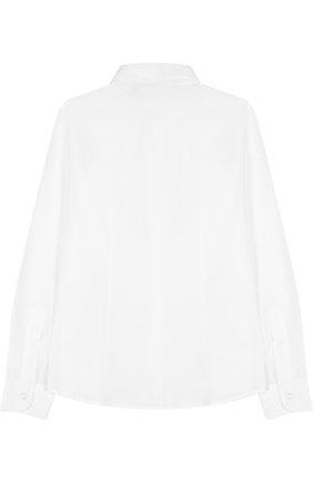 Детская хлопковая рубашка DAL LAGO белого цвета, арт. N402/1165/7-12 | Фото 2