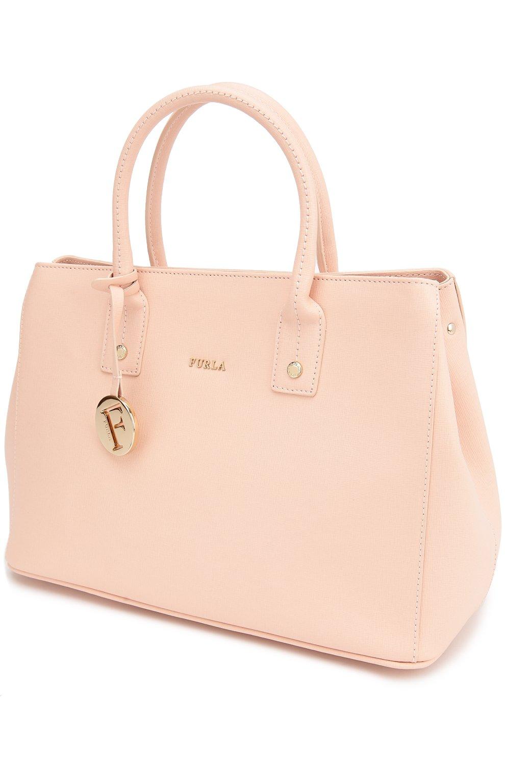 a433b81aa47d Женская сумка linda из сафьяновой кожи FURLA светло-розовая цвета ...