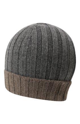 Кашемировая шапка с контрастным отворотом  | Фото №2