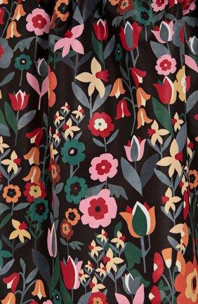 Юбка-тюльпан с эластичным поясом и цветочным принтом REDVALENTINO разноцветная | Фото №5