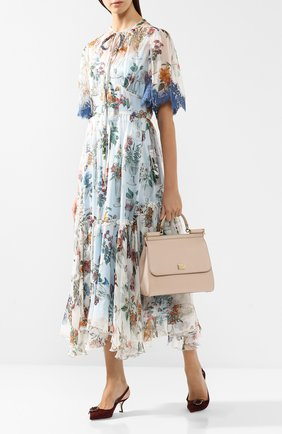 Сумка Sicily medium new Dolce & Gabbana светло-бежевая цвета   Фото №2