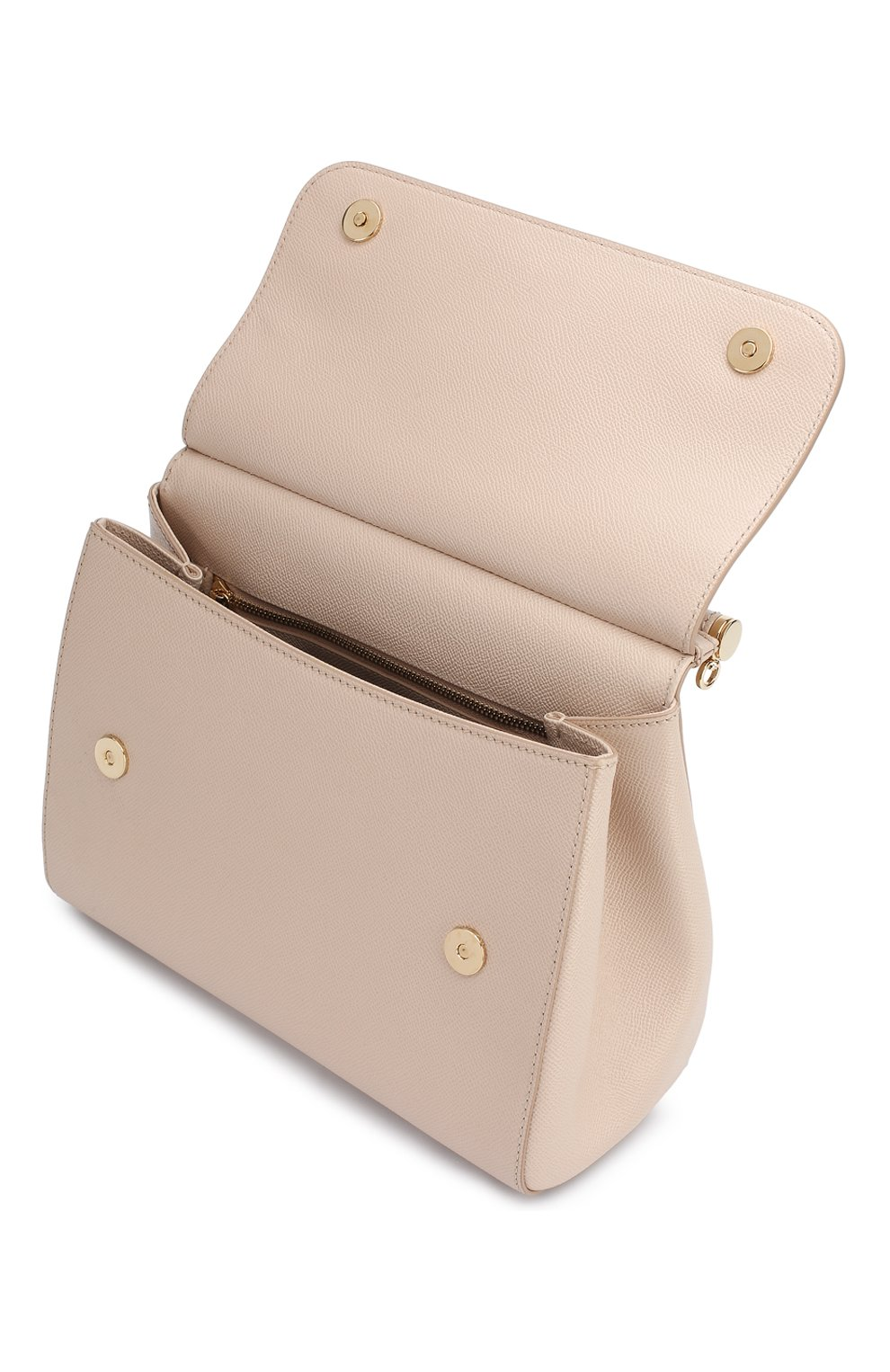 Сумка Sicily medium new Dolce & Gabbana светло-бежевая цвета   Фото №4