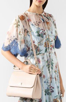 Сумка Sicily medium new Dolce & Gabbana светло-бежевая цвета   Фото №5