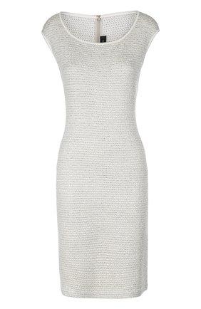 Облегающее платье без рукавов с металлизированной отделкой | Фото №1