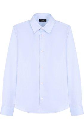 Детская хлопковая рубашка DAL LAGO голубого цвета, арт. N402/1165/7-12 | Фото 1