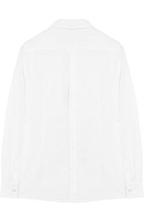 Детская хлопковая сорочка под смокинг DOLCE & GABBANA белого цвета, арт. 0131/L41S70/FU5GK/8-12 | Фото 2