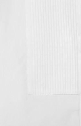 Детская хлопковая сорочка под смокинг Dolce & Gabbana белого цвета   Фото №3