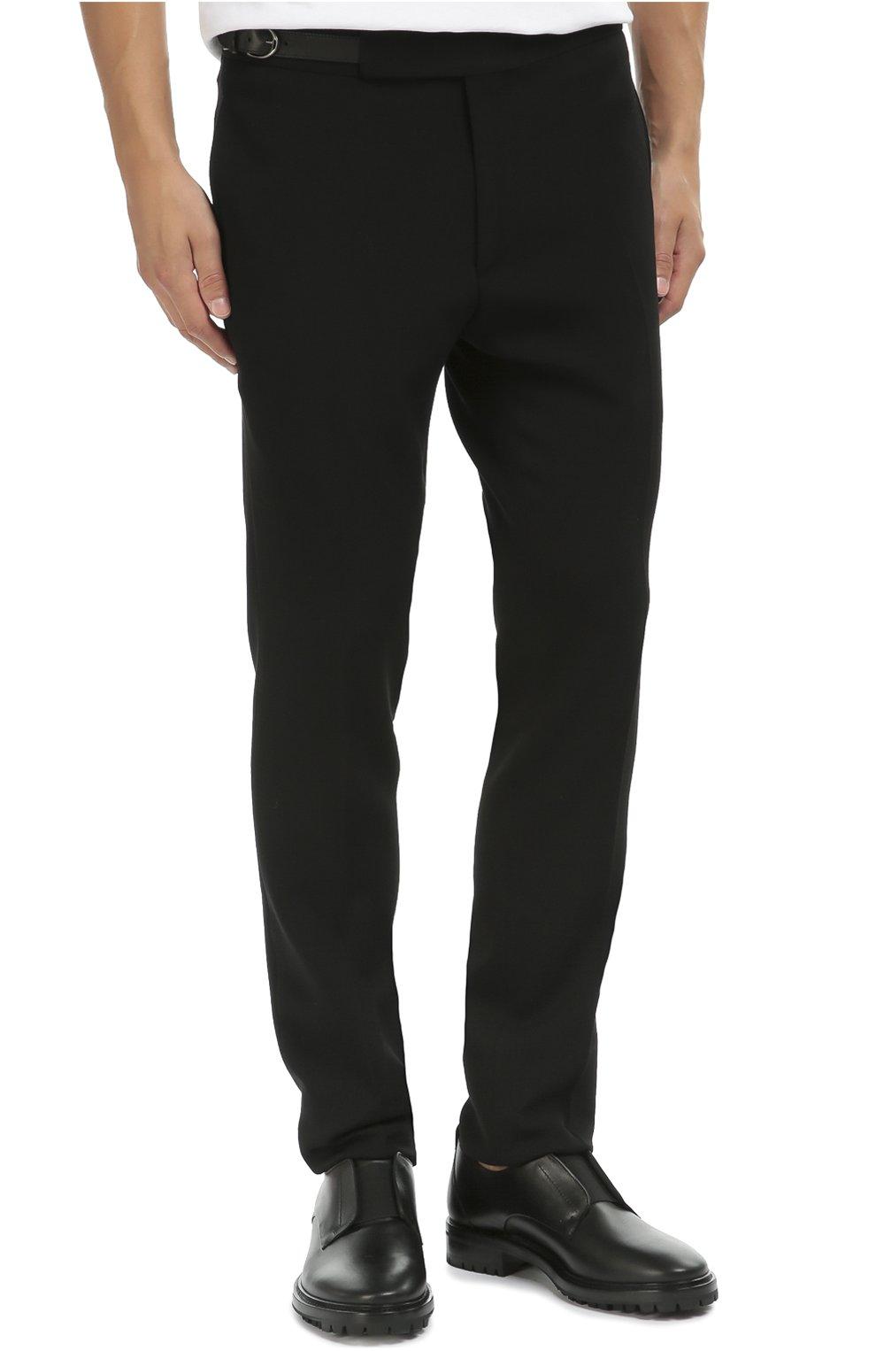 Шерстяные зауженные брюки   Фото №3