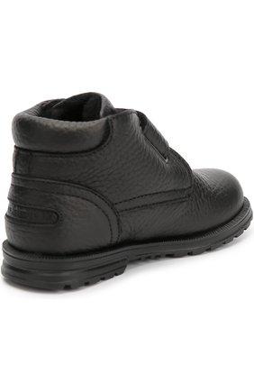 Кожаные ботинки с застежкой велькро | Фото №3