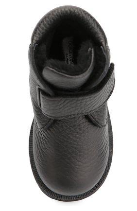 Кожаные ботинки с застежкой велькро | Фото №4