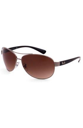 Мужские солнцезащитные очки RAY-BAN темно-коричневого цвета, арт. 3386-004/13 | Фото 2
