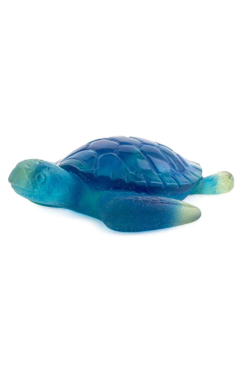 Мужского статуэтка черепаха DAUM голубого цвета, арт. 02690-10 | Фото 1