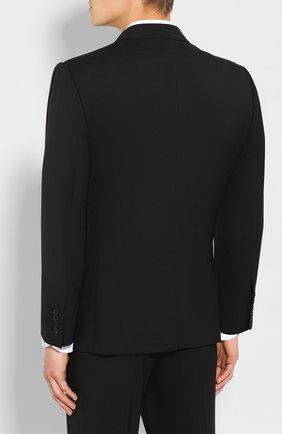 Шерстяной костюм Dolce & Gabbana черный | Фото №3