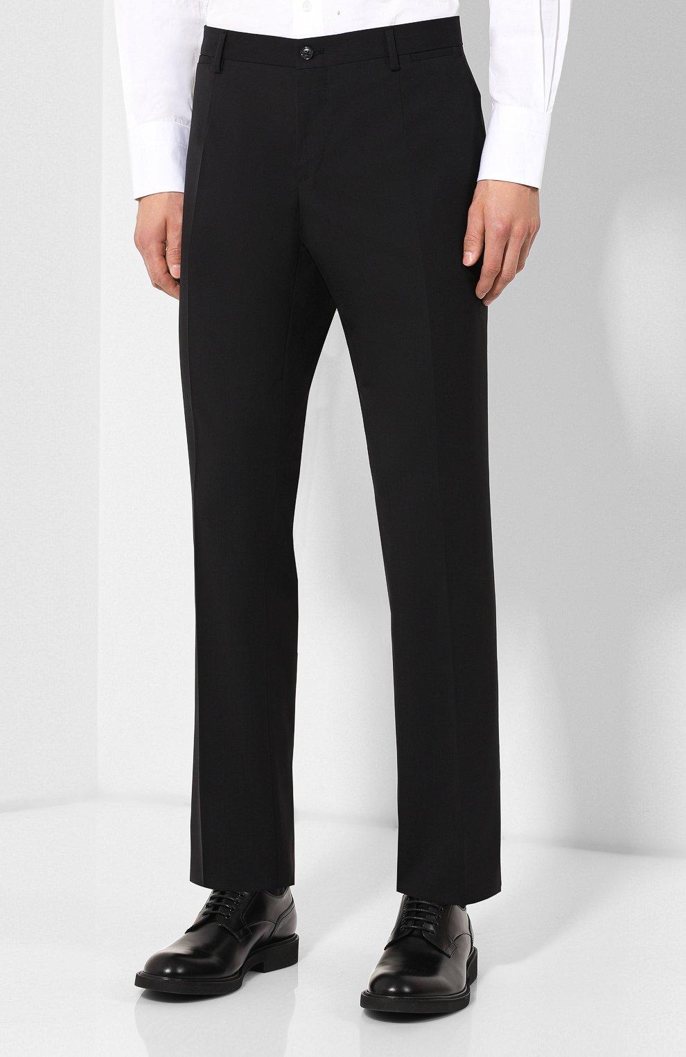 Шерстяной костюм Dolce & Gabbana черный | Фото №4