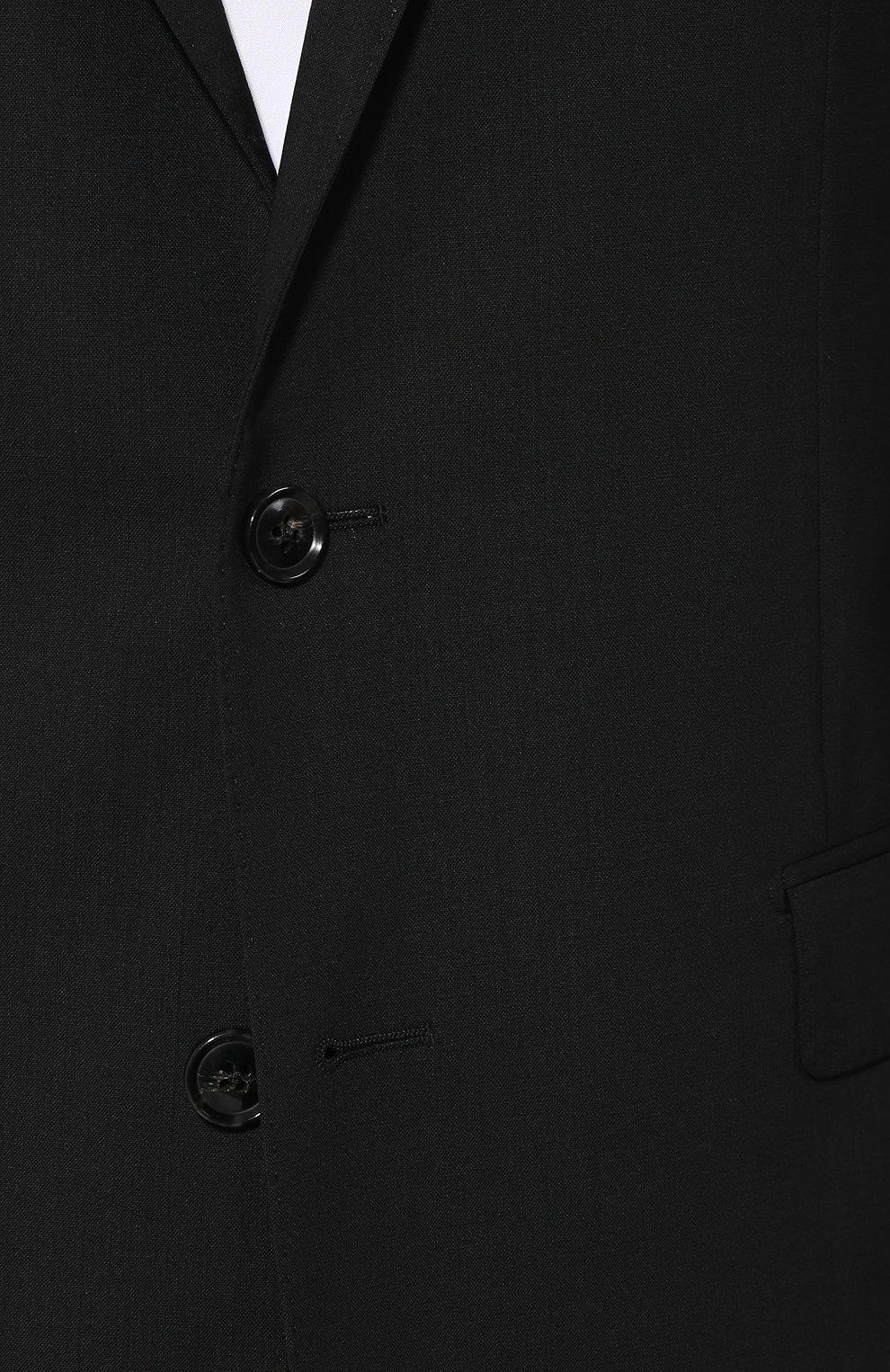 Шерстяной костюм Dolce & Gabbana черный | Фото №6