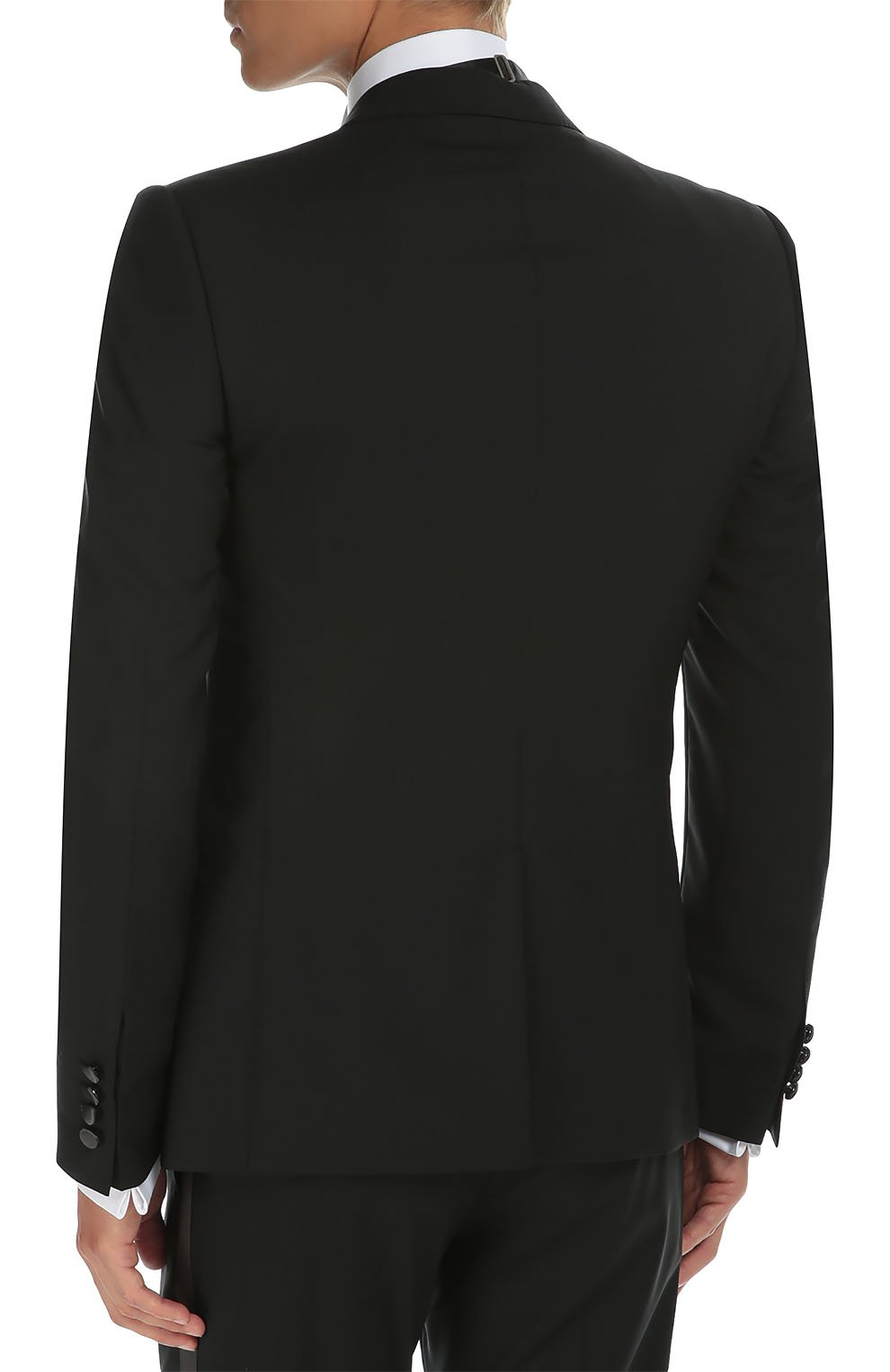 Смокинг-тройка с остроконечными лацканами Dolce & Gabbana черный | Фото №4