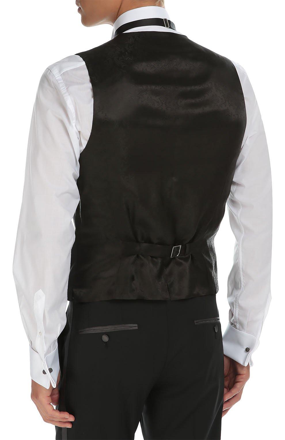 Смокинг-тройка с остроконечными лацканами Dolce & Gabbana черный | Фото №6