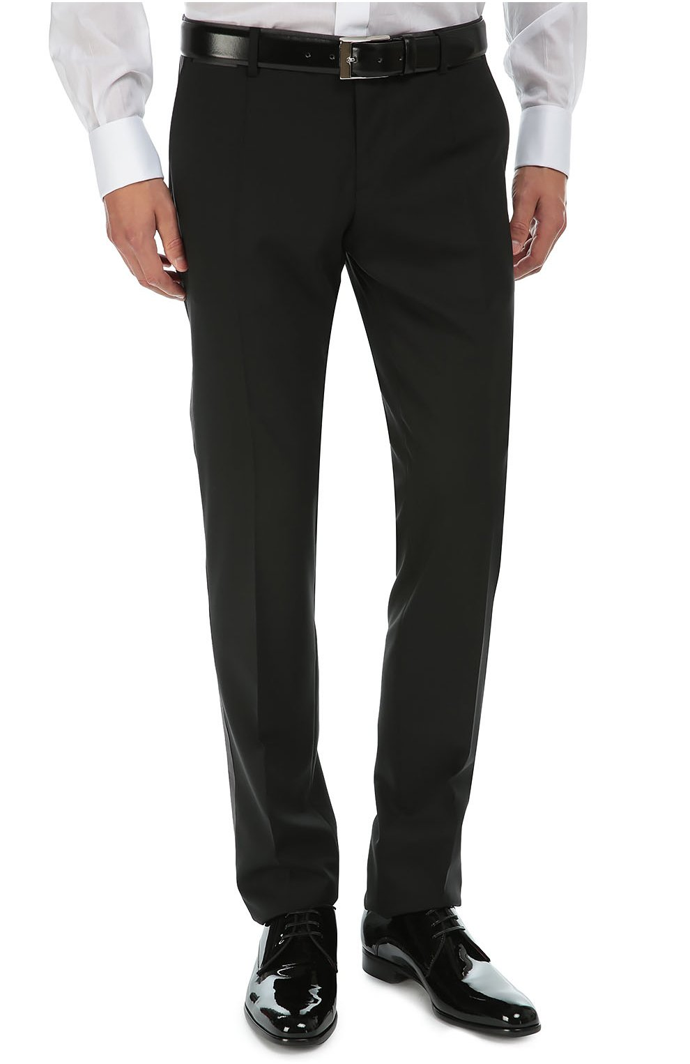 Смокинг-тройка с остроконечными лацканами Dolce & Gabbana черный | Фото №7