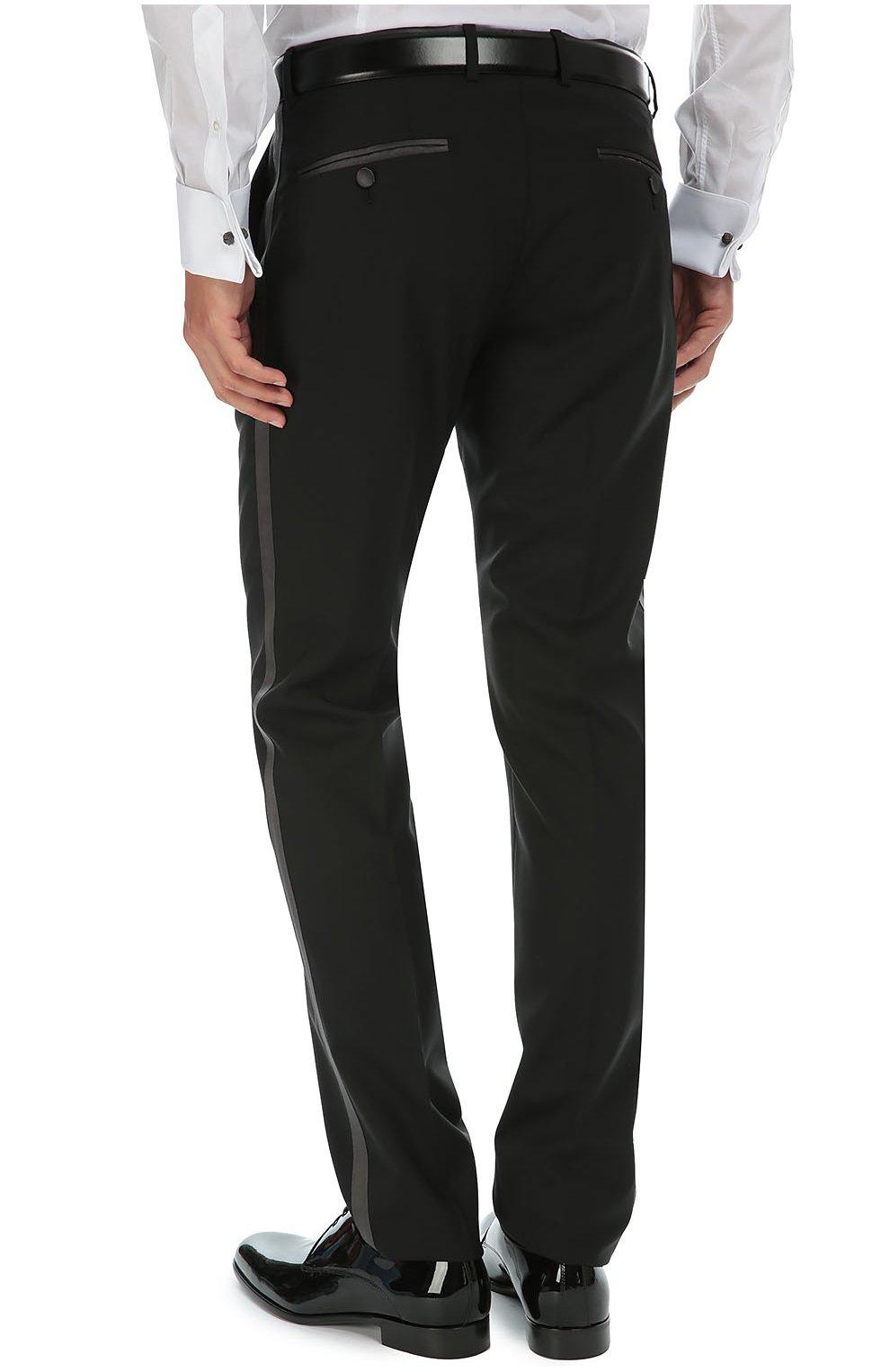 Смокинг-тройка с остроконечными лацканами Dolce & Gabbana черный | Фото №8
