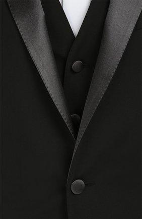 Смокинг-тройка с остроконечными лацканами Dolce & Gabbana черный | Фото №9