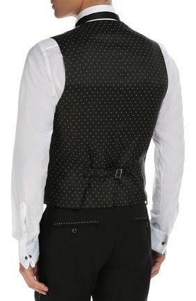 Костюм-тройка с контрастной прострочкой Dolce & Gabbana черный   Фото №6