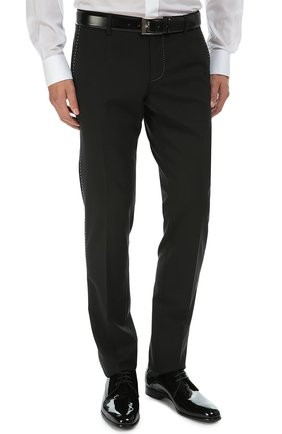 Костюм-тройка с контрастной прострочкой Dolce & Gabbana черный   Фото №7