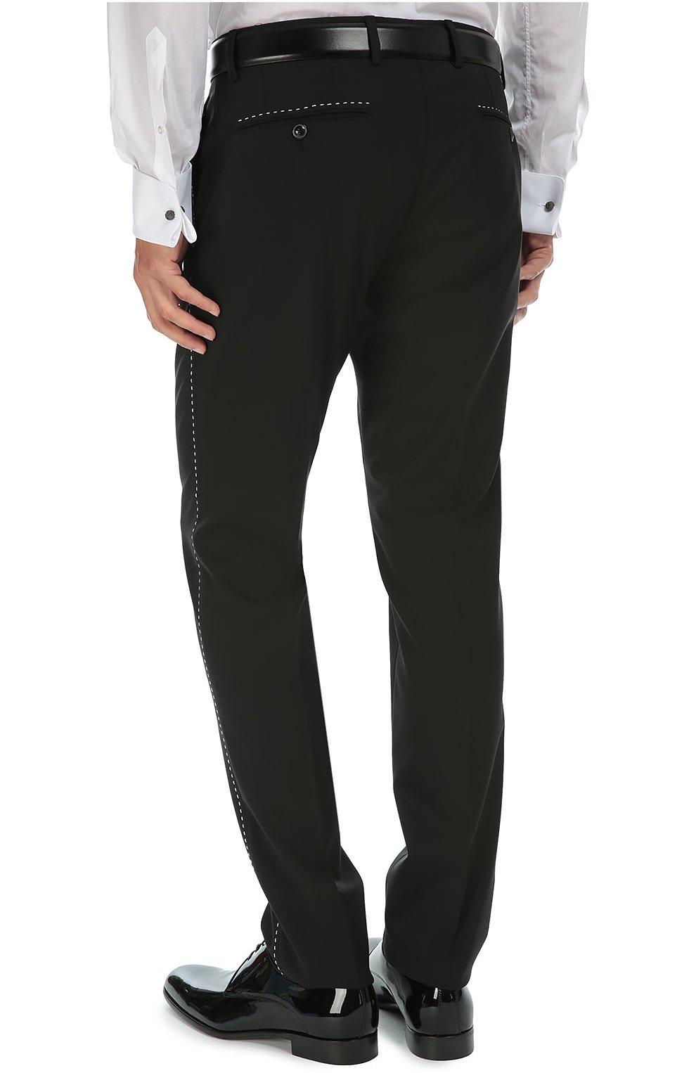 Костюм-тройка с контрастной прострочкой Dolce & Gabbana черный   Фото №8
