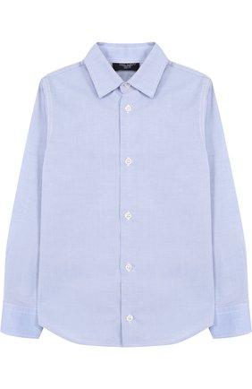 Детская хлопковая рубашка прямого кроя DAL LAGO голубого цвета, арт. N402/1165/4-6 | Фото 1