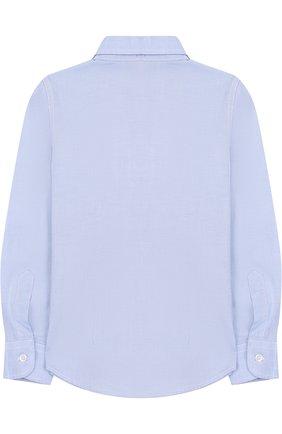 Детская хлопковая рубашка прямого кроя DAL LAGO голубого цвета, арт. N402/1165/4-6 | Фото 2