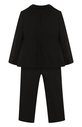 Детский смокинг из смеси шерсти и шелка Dolce & Gabbana черного цвета | Фото №2