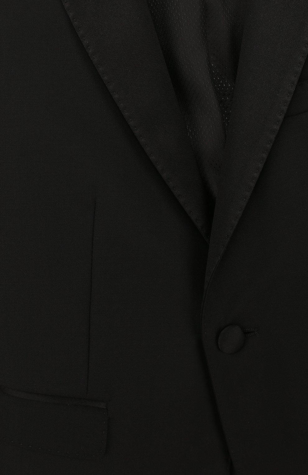 Детский смокинг из смеси шерсти и шелка Dolce & Gabbana черного цвета | Фото №5