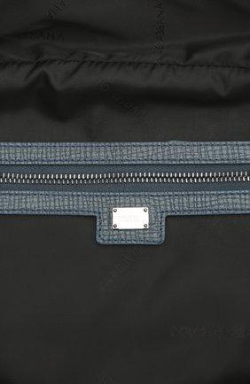 Дорожная сумка Mediterraneo из тисненой кожи Dolce & Gabbana синяя | Фото №4