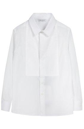 Детская хлопковая сорочка под смокинг DOLCE & GABBANA белого цвета, арт. 0131/L41S70/FU5GK/2-6 | Фото 1
