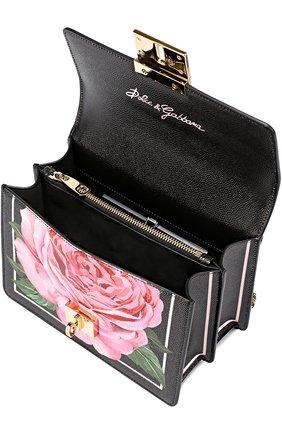 Сумка Rosalia small с принтом Dolce & Gabbana розовая цвета | Фото №4