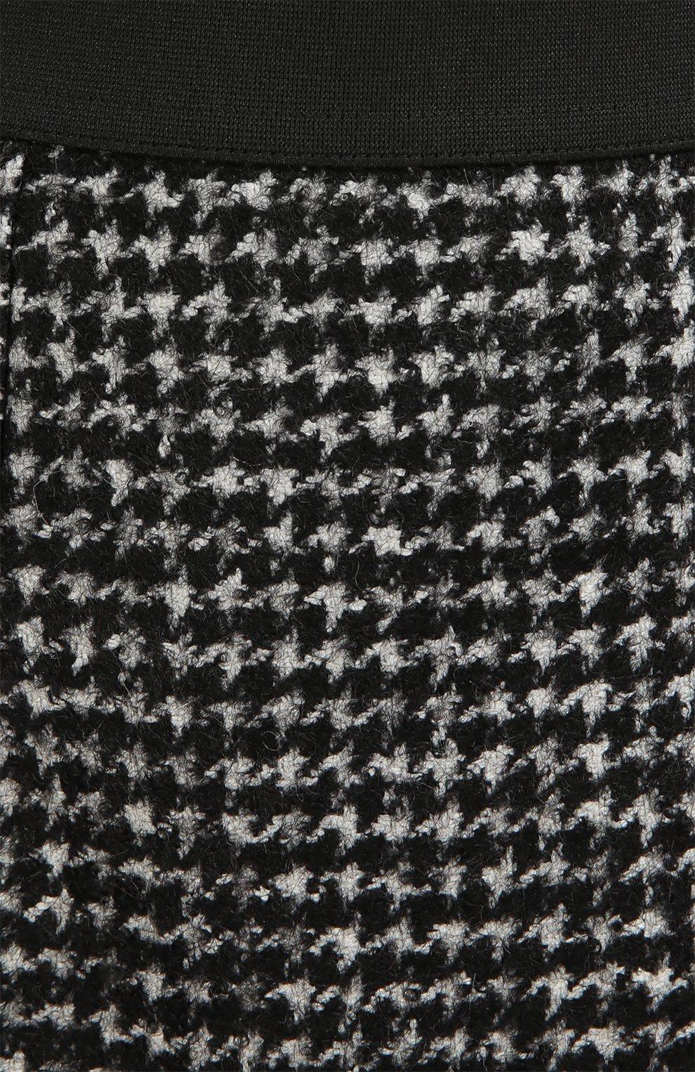 Буклированная юбка прямого кроя с широким поясом Dolce & Gabbana серая | Фото №5